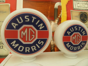 MG Austin Morris Classic Car Vintage Style Retro Gas Pump Globe .              (2 Sizes Available)
