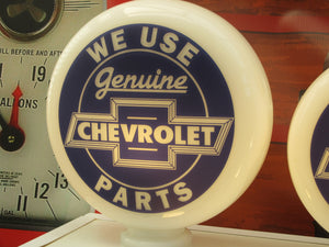 Chevrolet style Gas Pump Globe, Retro Gas Pump Globes .             (3 Sizes Available)