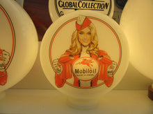 MOBIL Pin Up Gas Pump Globe, Retro Gas Pump Globes - Tony Upson Art .             (3 Sizes Available)