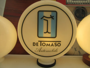 De Tomaso Pantera Automobili Design Gasoline Supercar Style Gas Pump Globe .            (2 Sizes Available)