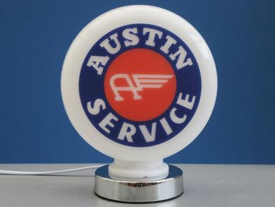 Austin Service Classic Car Vintage Style Retro Gas Pump Globe .              (3 Sizes Available)