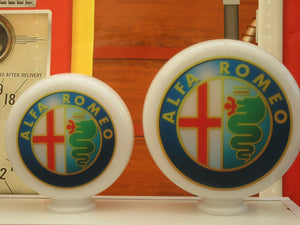 Alfa Romeo Retro Gas Pump Globe style Vintage Gas Pump Globe (2 Sizes Available)