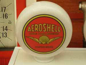 Shell Aviation Style AEROSHELL Gas Pump Globe Huile Pour Moteurs Red