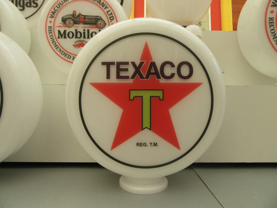 TEXACO Star Black Outline Petrol Pump Globe