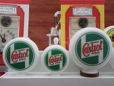 Castrol Oil Vintage Retro Style Retro Gas Pump Globe  . (3 Sizes Available)