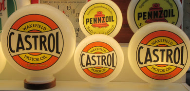 Castrol Wakefield Vintage Retro Style Retro Gas Pump Globe  . (3 Sizes Available)