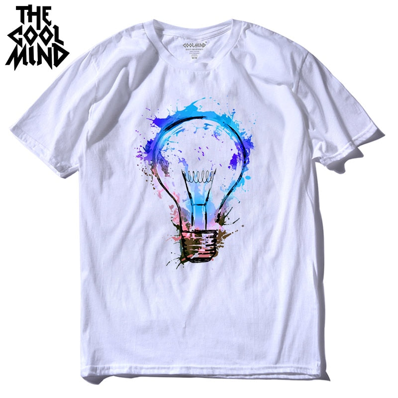 Colorful Light bulb  - 100% cotton T-Shirt