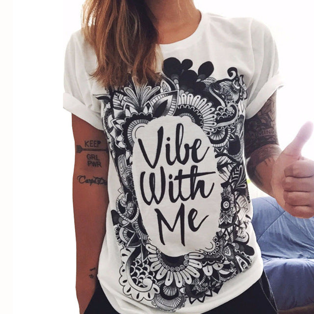 Vibe With Me Paint Print T-Shirt