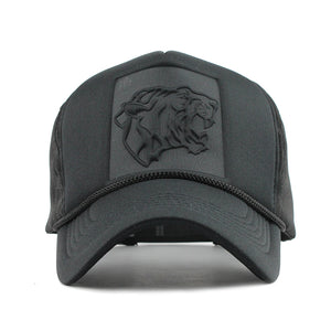Black Leopard Trucker Hat