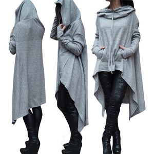 Oversized Draping Hooded Pullover