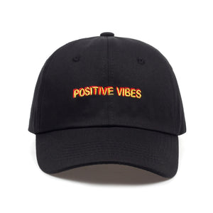Positive Vibes Cotton Embroidery Baseball Cap