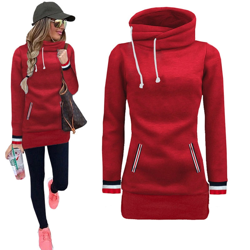 Autumn Women's High Neck Fashion Pullover