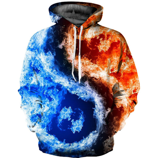 Ice And Fire 3D Hoodie
