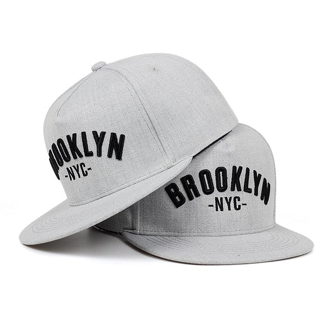 BROOKLYN NYC embroidered snapback cap