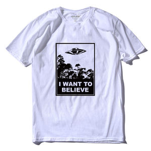 I Want To Believe short sleeve 100% cotton t-shirt