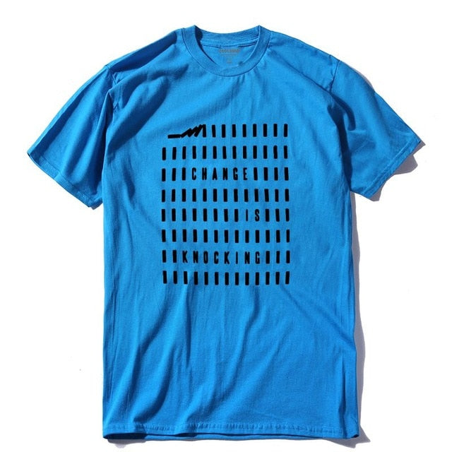 Dominoes  - Change Is Knocking 100% cotton T-Shirt