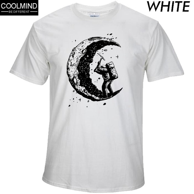 Digging the Moon 100% cotton T-Shirt