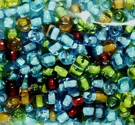 Seed beads by size: 11/0