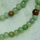 Green and brown quartz 4mm round beads  16 inch strand