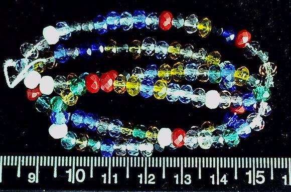 Czech glass Preciosa Ornela mixed color 5mm assorted  rondelles 16 inch strand