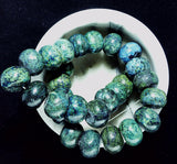Blue/green powder turquoise 14mm x18mm rondelle beads 16 inch strand