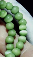 Chalk turquoise green semi-round 4mm beads 15 inch strand