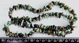 Natural African Turquoise chip beads 20 inch strand