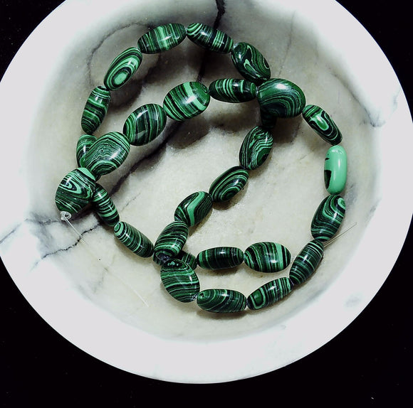 Malachite Beads strand dark green