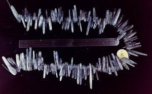 Kyanite top-drilled polished stick beads  15 inch strand