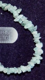 Blue/green Apatite rough chip beads  16 inch strand