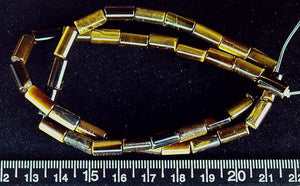 Tiger Eye agate 4mm round tube beads (two 14 inch strands=28 inches)