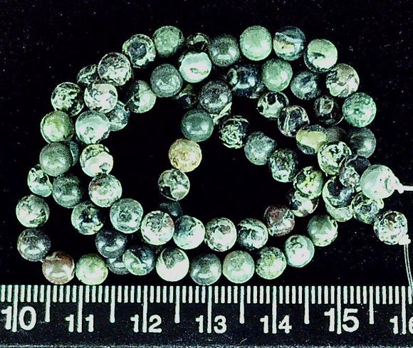 Black labradorite 5mm polished round beads (15 inch strand)