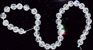 Crystal clear 5mm faceted round bead 8 inch strand