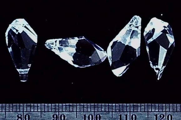 Swarovski Crystal clear 18mm Polygon pendant 4 bead small lot