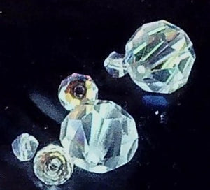 Swarovski Crystal AB  small lot  4 beads 2mm to 12mm