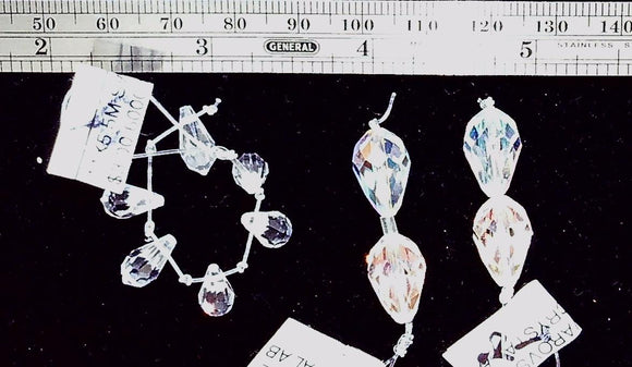 Swarovski Crystal AB biolette 15mm and 10mm mixed size lot