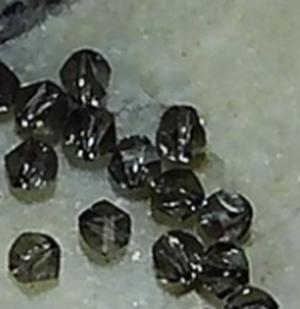 Smoke gray Swarovski crystal 4mm bicone 50 bead lot