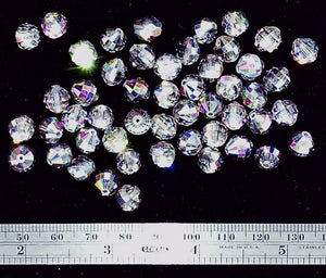 Vitrail Swarovski crystal 8mm faceted round ball 50 bead lot
