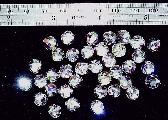 Vitrail Swarovski crystal 8mm faceted round ball 37 bead lot