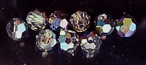 Swarovski vitrail faceted 5mm round  10 bead lot