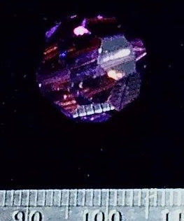 Swarovski crystal amethyst 15mm faceted round  1 bead lot