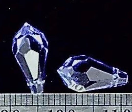 Swarovski crystal tanzanite 12mm pendant teardrop  2 bead lot