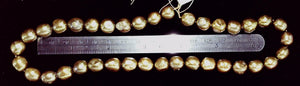 Freshwater pearl  iris bronze potato to 10mm bead 16 in strand