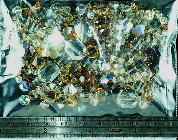 Swarovski Crystal mixed size/warm color bead lot  (100+ beads)