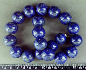Blue Lapis Lazuli 20mm  polished round beads (15 inch strand)