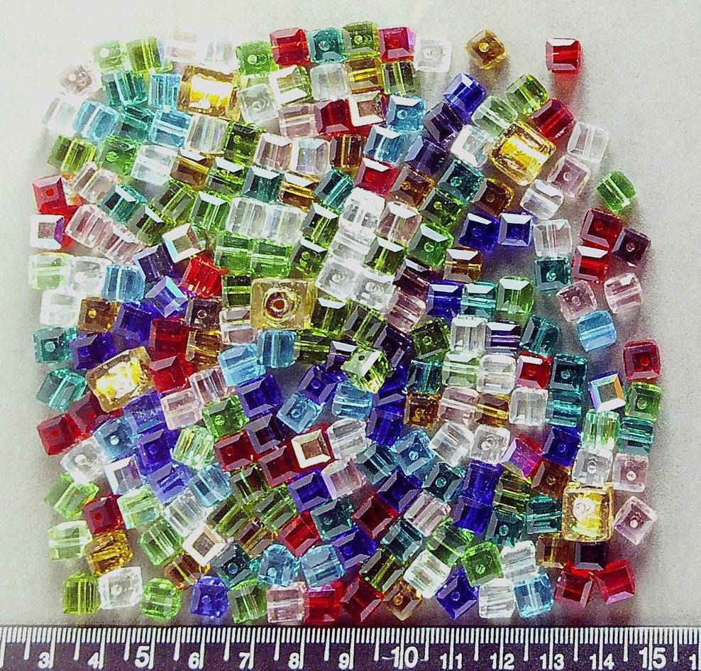 10 x Faceted Glass Flat Disc Shape Beads AB 14mm  choice of colours