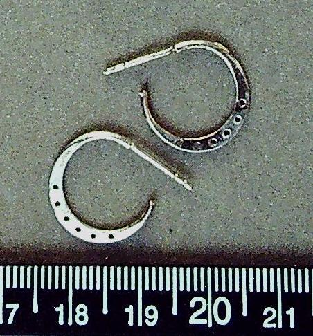 Sterling silver 12mm round earring findings with 6 holes/no nuts (1 pair/2 total)