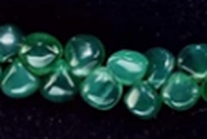 Apatite drops  7mm x 7mm trop puff beads 8 inch strand