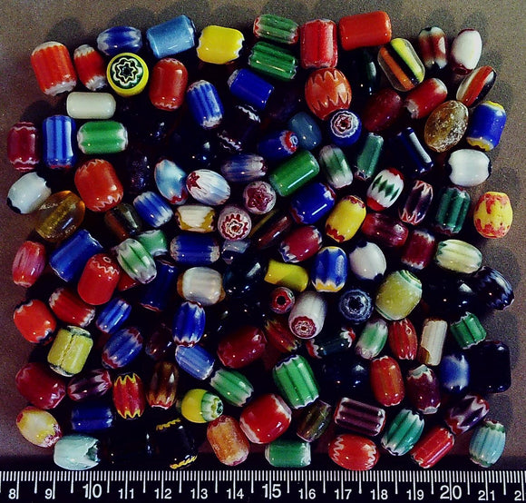 Multi color mixed shape lampwork glass bead lot (90+ beads)