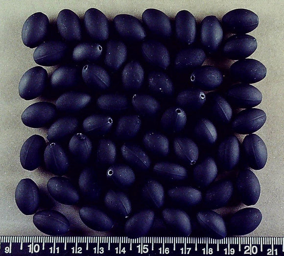Black acrylic rubber oval beads (17mm x 12mm)(50+ beads)